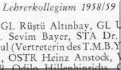 Ahmet Arpad - Lehrer 1958